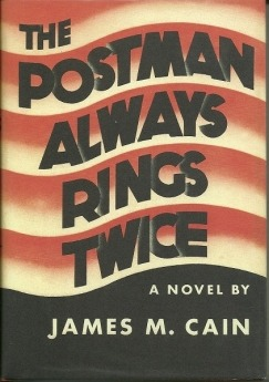 "The classic noir novel The Postman Always Rings Twice has been republished by the Folio Society. Steve Erickson takes another look at the book in honor of the occasion:  With its artlessly perfect first sentence — ""They threw me off the hay truck about noon"" — James M. Cain's The Postman Always Rings Twice drew a line in the sand as defiant as any in literature since The Adventures of Huckleberry Finn. Not unlike that novel, Postman forced an untamed populist voice onto more exalted cultural sensibilities; of course, nothing could be more American. Cain is a major figure of American fiction's shadow pantheon, the one that includes not Fitzgerald, Hemingway, and Steinbeck but Paul Bowles, William Burroughs, and Philip K. Dick, with Faulkner, Miller, and Pynchon wandering the demilitarized zone between. The most commercially successful of them, Cain was also the most spiritually bleak, finding his calling late and fast in the Depression's depths after a fitful career as a journalist. The Postman Always Rings Twice (1934) was a sensation and scandal, at the other end of the bookshelf from The Grapes of Wrath (1939): Tom Joad may have been riding that hay truck too, but Frank Chambers is the one who got thrown off.  Click here to read the rest of ""Nothing More American: On James M. Cain"" at the Los Angeles Review of Books."