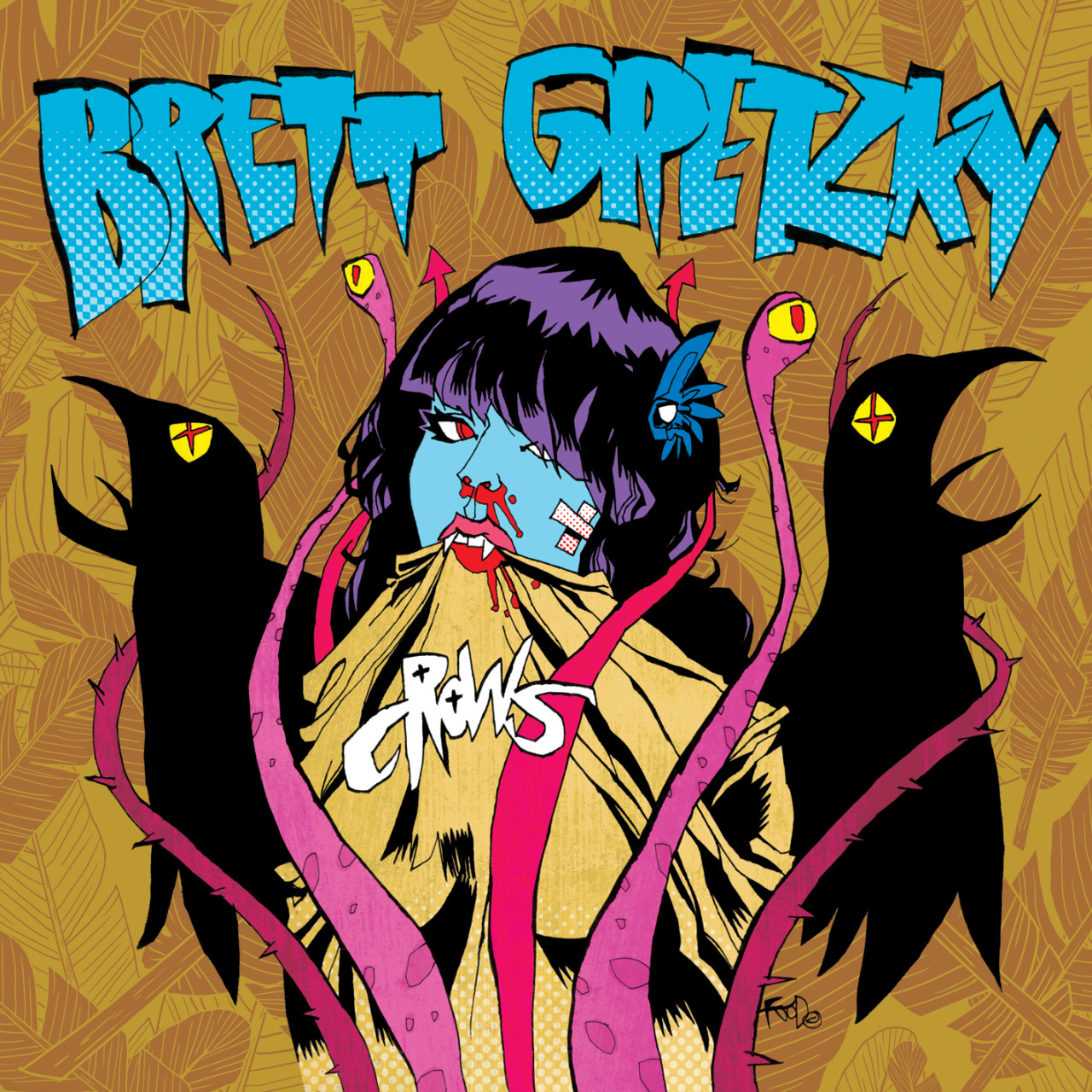 "Brett Gretzky ""Crows"" album cover Artwork by Jim Mahfood http://jimmahfood.com Colors by Steven Chunn"