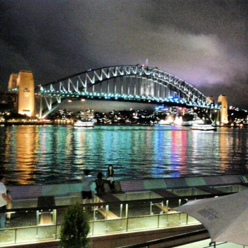 Sydney night bridge #bridge  #Australia #Sydney  (at Australia)