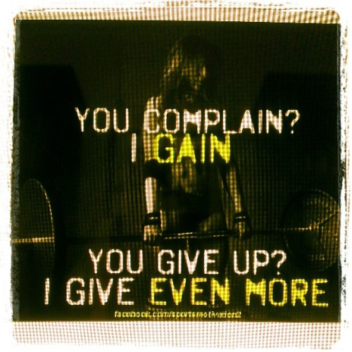 No giving up. Ever. #fitfluential