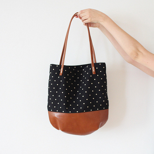 Riley dot tote by rennes