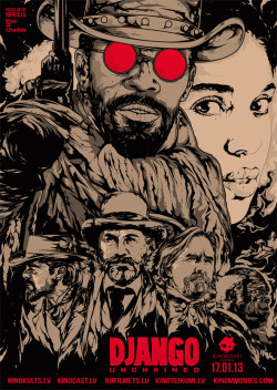Django Unchained movie poster from Latvia.