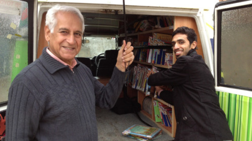 "After decades abroad Saeed Malik (left) returned to his native Pakistan to rectify the poor education system. He remembered talking to a group of boys, 9 to 16 years old, and finding that the majority wanted to be freedom fighters and die as martyrs, because they had nothing else to live for. ""And I felt, in what way can we bring these kids back to the beauty of life, to the beauty of future, to be of value to fellow mankind and to themselves and to the country,"" he says. ""And I started thinking in what way can we help the children."" Malik felt books were the way to broaden children's minds, to introduce them to a whole world of subjects, and to help build tolerance for others. But he discovered that virtually none of the public schools in and around Islamabad had libraries. Through donations from the UN and private individuals, he founded the Bright Star Mobile Library, which now serves about 2,500 children, providing a range of books in Urdu and English. Read more here."