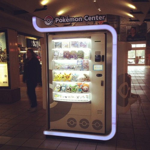 saving-mercy:  Pokemon Center vending machine in northgate! Awesome!!!! #pokemon #asian #socool