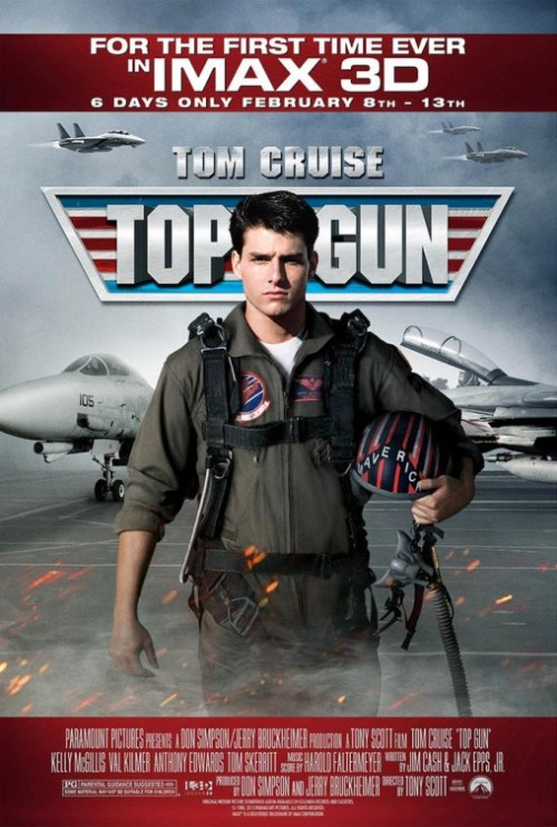 fuckyeahmovieposters:  Top Gun  Um, IMAX 3D?! Will the volleyballs fly out of the screen and hit you in the face? Regardless, in.