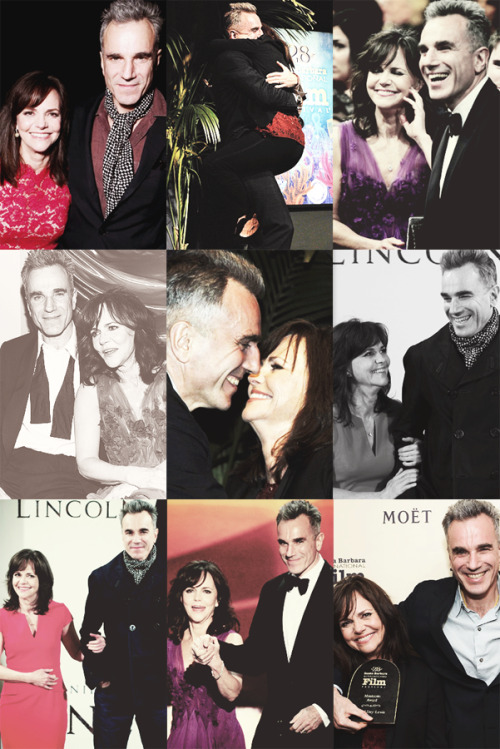 "fangirl challenge 5/15 friendships → daniel day-lewis and sally field ""We just couldn't start a comfortable relationship with each other because he was so far away!"" - Sally"