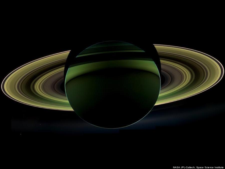 NASA's Cassini spacecraft snapped this gorgeous, newly-released image of Saturn.