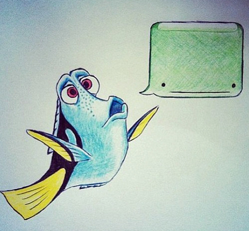 tastefullyoffensive:  Dory speaking whale.[via]
