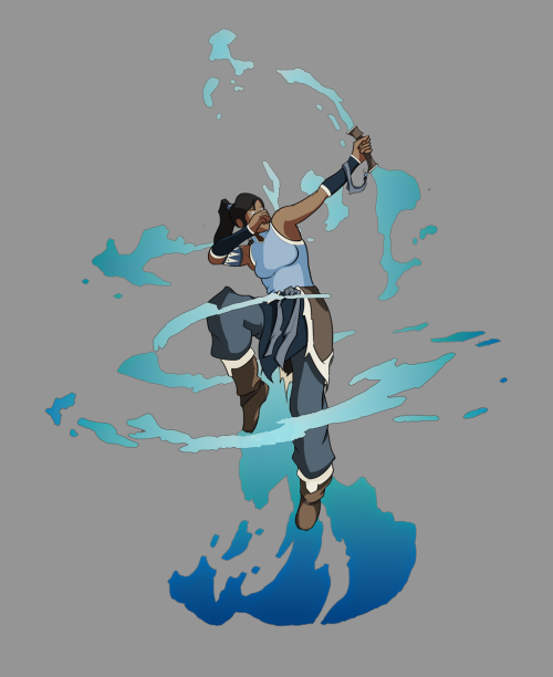 elventhespian:  Korra - Water Bow + Water - Fan Art by ~LukeO3d