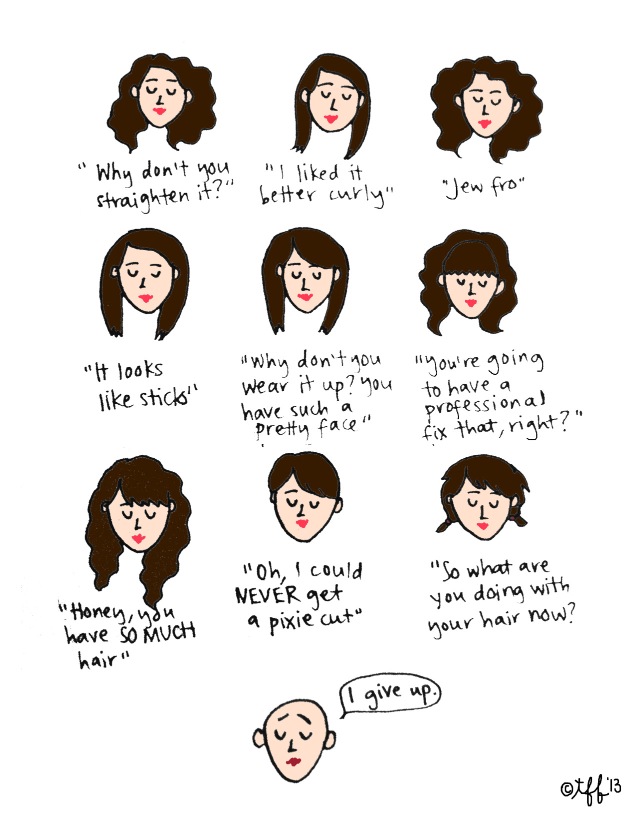 Things people have said to me about my hair (by Tyler Feder)