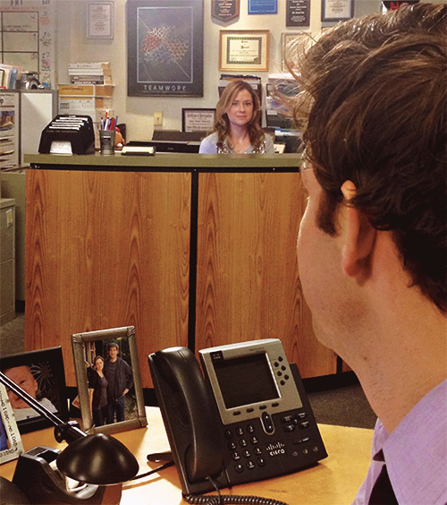 sniktaeilsel:  The end. Jim & Pam.