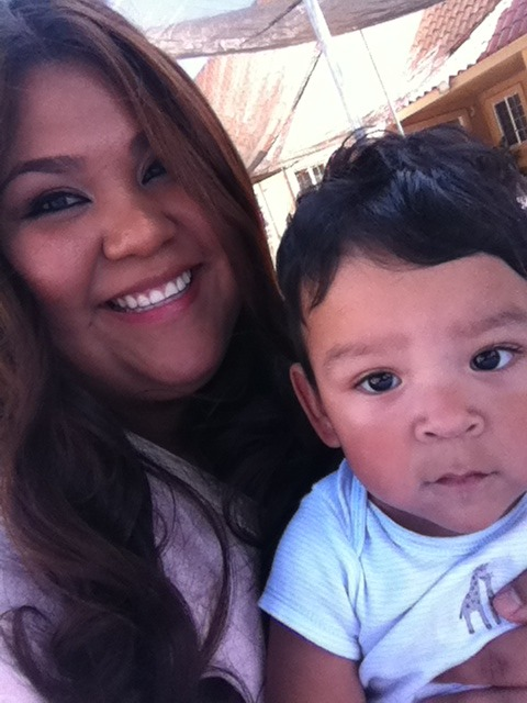 My little nephew Angel. Such a cute baby I am going to say he is smirking ahh he is so cute, I had forgotten how much fun we have with my dad's family.