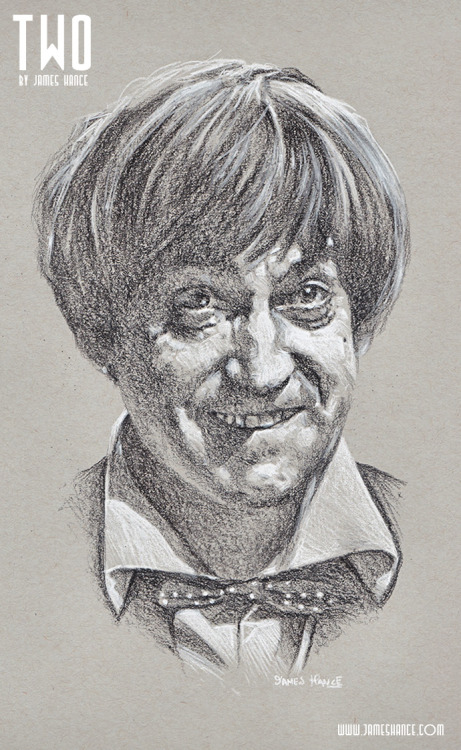 jameshance:  Latest Doodle - 'Two' (Doctor Who - Charcoal) The second of 11 portraits - 1 a day for the next 10 days. Prints and originals available once the set is complete. Thanks so much for your kindness, as always - Truly appreciated! :) xMy site / My Facebook / Original Art on eBay   se