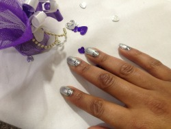 Wedding guest nails for Samantha
