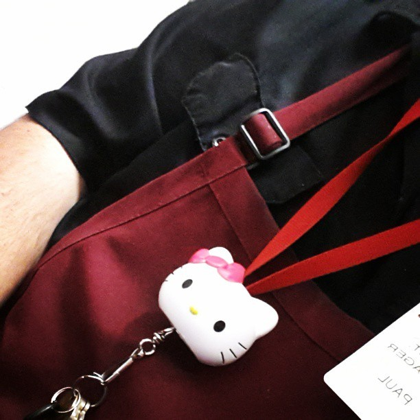 Yep #hellokitty #sanrio #kawaii #manager #keychain #idek
