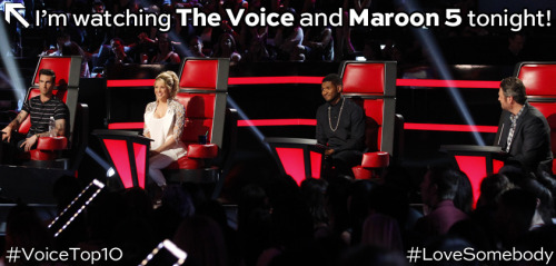 nbcthevoice:  The Top 10 AND Maroon 5 are performing on The Voice tonight, REBLOG if you can't wait!