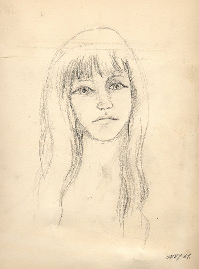 Portrait of a stripper by Nobel-winning physicist Richard Feynman, 1969 – one of his many sketches and drawings spanning 25 years of little-known art.