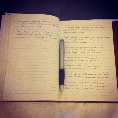 Late night lyric writing…
