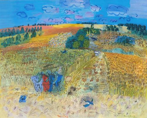 le-desir-de-lautre:  Raoul Dufy (French, 1877-1953), The Wheatfield, 1929, oil on canvas, 1300 x 1620 mm.