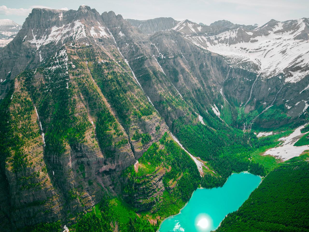 Avalanche Lake, Montana USA