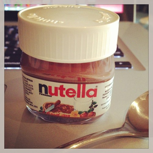 Mini Nutella and Supernatural. Lazy Sunday = made! 😁 #nutella #mini #supernatural #sunday #lazy