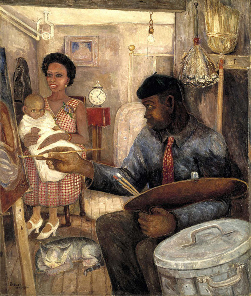 blackcontemporaryart:  Palmer Hayden (1890-1973) The Janitor Who Paints, ca. 1930.