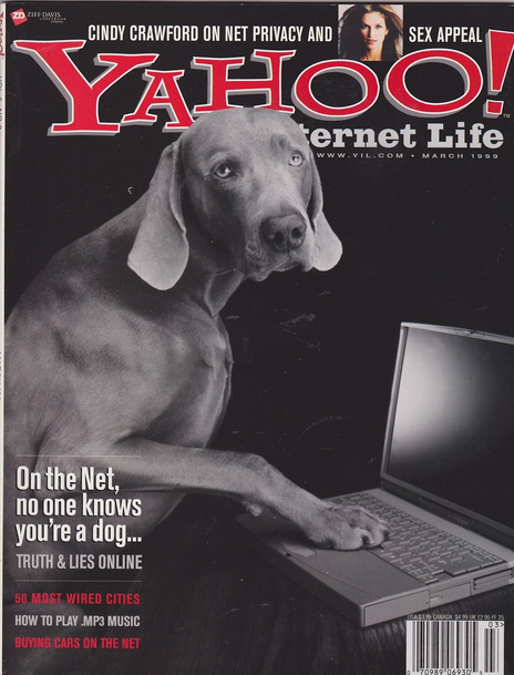 A look back to when Yahoo used to publish a physical magazine. It's amazing.