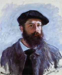 Self Portrait with a Beret, 1886. Claude Monet.
