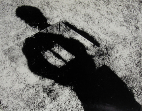 Invisible Hole Revealed by the Shadow of the Artist, 1968 Keith Arnatt