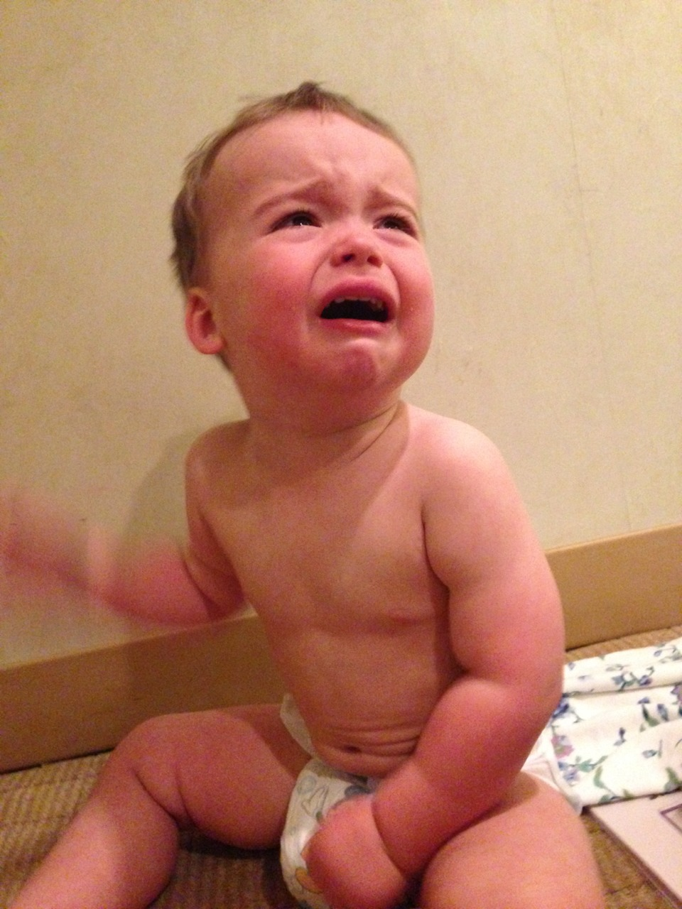 reasonsmysoniscrying:  We wouldn't let him open the hotel door and run naked through Times Square.