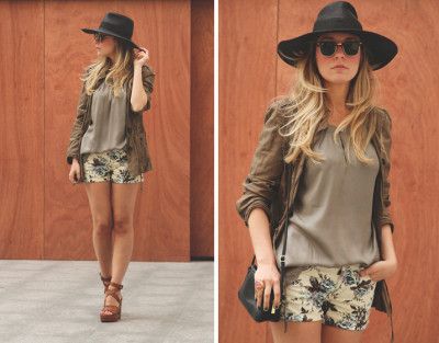 lookbookdotnu:  Flowers in my shorts (by Priscila My Showroom)