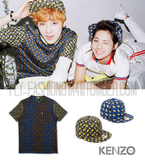 [FLY-FASHION FIND] Seems like their management loves this mother-father duo as much as we all do! In the newest set of teaser photos finally released of CNU, we've found both members above wearing fitted caps from the KENZO x New Era S/S 2013 collection, and Jinyoung wearing the patterned multicolor shirt also from Kenzo! Jinyoung is also wearing this same outfit in the teaser photo with Sandeul. You can find the caps here & here for $60 each. Jinyoung's shirt here for 18,900 円 How adorable were CNU's teaser photos?! >.<♥ Are you relieved they kept his hair long? Or would you have rather liked to see him go for more of a bolder, shorter cut for this comeback? Image credit: b1a4.com, openingceremony.us, faketokyo.com