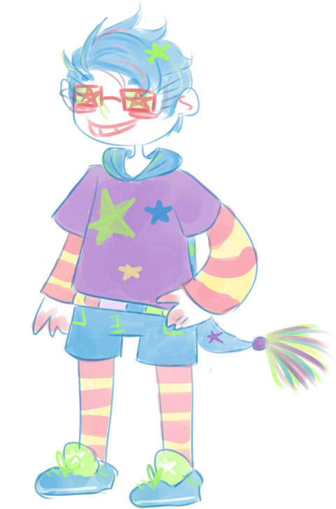 Toby asked me to make trickster him a million years ago and I just got around to finishing it. Woops.