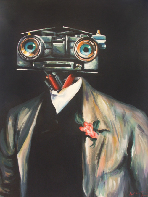 "easilysuede:  (via Pop Icon Paintings By White Rabbit  … Johnny 5 …""INput"""