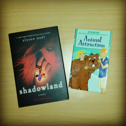 "I just bought these new babies again! HB Shadowland from #theimmortals series for just 150p!! And the best part is… i finally found this book from ""the romantic comedy series"" !!! #bookobsessed #bookaholic"