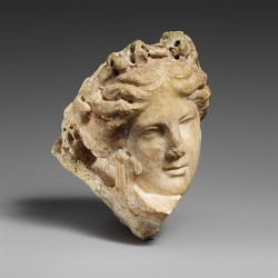 centuriespast:  Marble head of a young woman, perhaps a muse Greek Date: 3rd -2nd century B.C. The Metropolitan Museum of Art