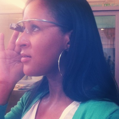 Trying on #GoogleGlass… It's official. I'm sold. Adding it to my tech repertoire!