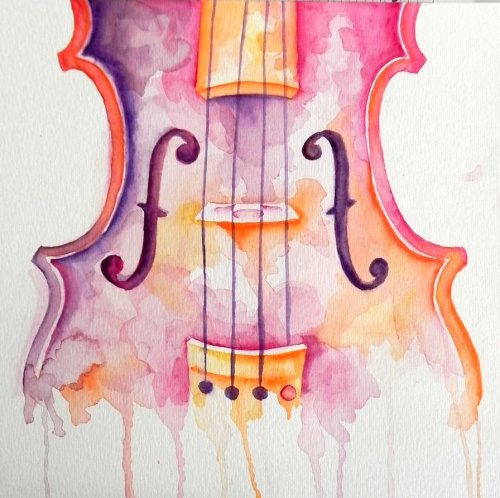 stupid-hoes-hoe:  http://generallyspeaking.deviantart.com/art/Watercolor-Violin-266061135