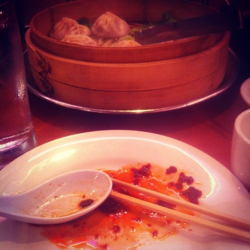 You know what they say? I'll have dim sum and dim some more! #WAG #quotingwillandgraceisfun #willandgrace #newyorknewyork #dinner #chinatown #dimsum #dumplings #probablythebestasianfoodihaveeverhad