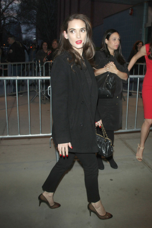 Winona Ryder at the NYC premiere of Disconnect, April 8, 2013
