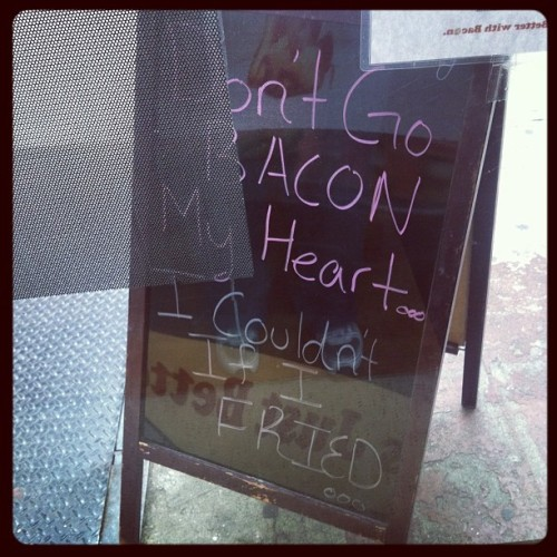 Ohhhhh-ohhhh I bacon my heart….the ditty by Elton Hog and Kiki Squeal (at Baconery)