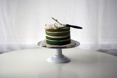 robot-heart:  green ombre cake TUTORIAL (by { coco cake cupcakes })