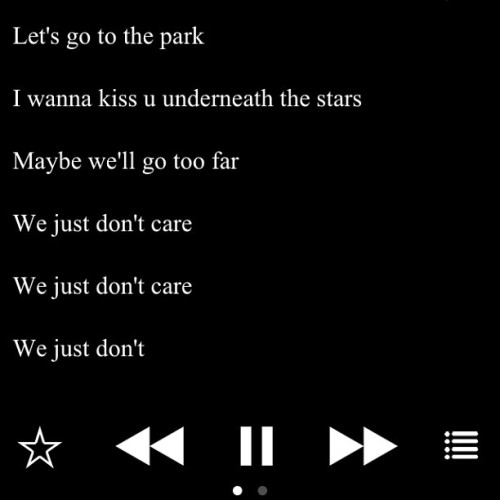 We just don't care. 👥 || My favorite song. #nowplaying #johnlegend #pda #wejustdontcare #itube #lyrics #nofilter