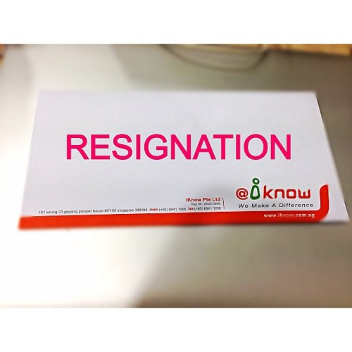 First Job and First Resignation ever happen in my life :(   Wish iKnow all the best in future :)