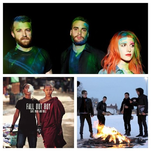 These have been on repeat for 2 weeks :) great albums #paramore #falloutboy