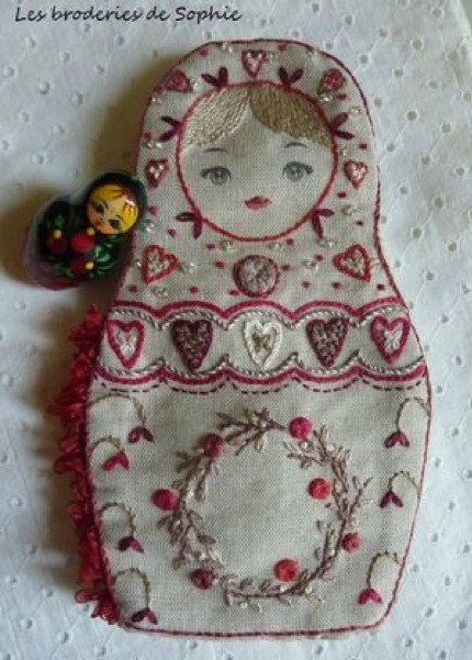 DIY Embroidered Russian Doll, Matryoshka by Les Broderies de Sophie