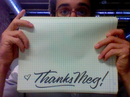 Just a sweet thank you from Dai Foldes at Lost Type Co-op. I'm loving his new font, Cylburn. Go buy it!