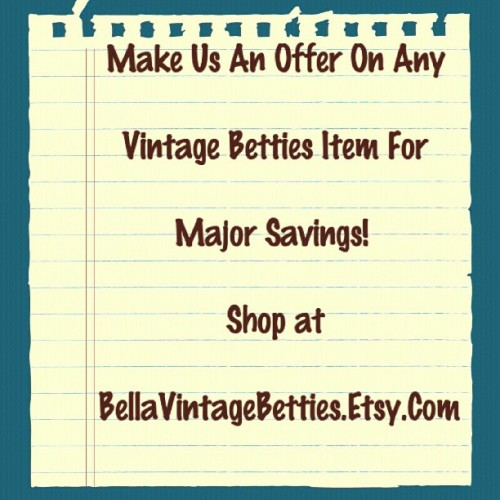 Name Your Own Price on the Most Fab   and Chic Vintage Clothes! Shop at   BellaVintageBetties.Etsy.Com