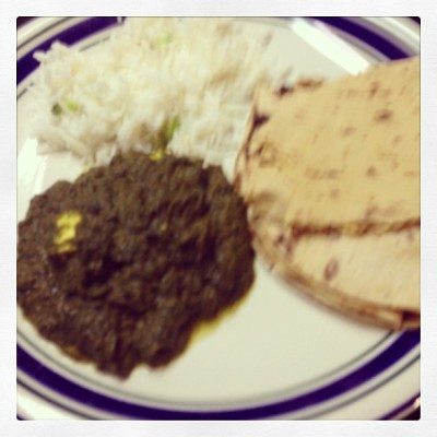 @nickmokashi made Indian food :)