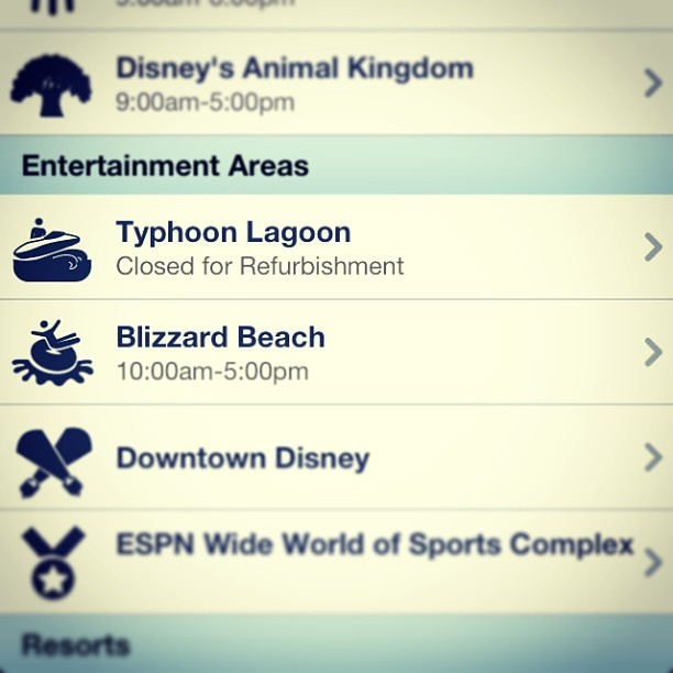 I swear every time I try to go to typhoon lagoon it always closed for updates!!! -_- #disney, #waltdisneyworld, #disneyproblems, #typhoonlagoon